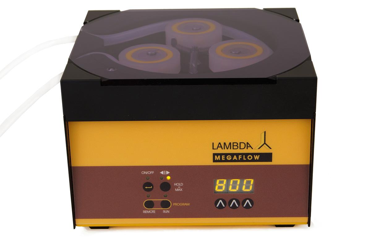 Dosierpumpe zur sterilen Vorlage des Mediums für Verdünnungsreihen